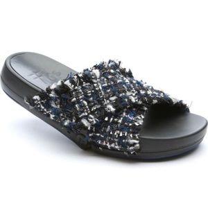 Figs Figomatic Flexible Tweed Slide Sandal Size 7